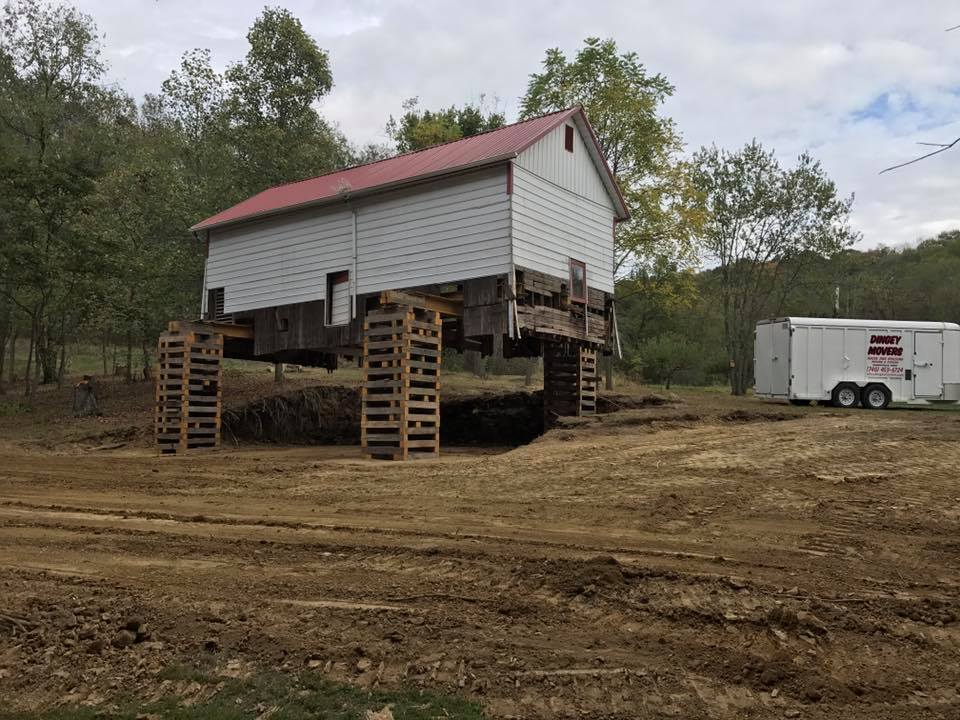 Dingey Movers Barn Move New Foundation 3