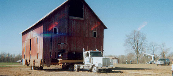 Dingey Movers Bridge Moving Barns